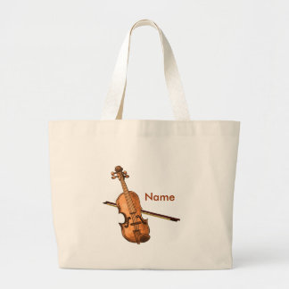 Country Violin Tote Bags