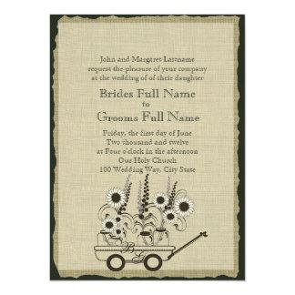 Country Wagon Wedding Card