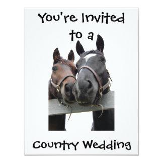 Country Wedding 11 Cm X 14 Cm Invitation Card