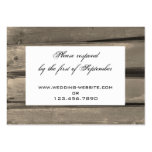 Country Wedding RSVP Response Card Business Card