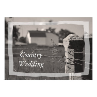 Country Wedding Save the Date Announcement