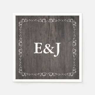 Country Wedding Wood Wedding Napkins Disposable Napkins