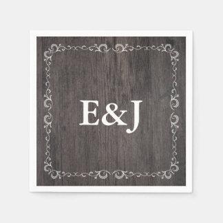 Country Wedding Wood Wedding Napkins Disposable Serviette