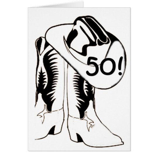 "COUNTRY WESTERN ""50th"" BIRTHDAY WISH Card"