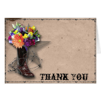 Country Western Barbed Wire Thank You Card