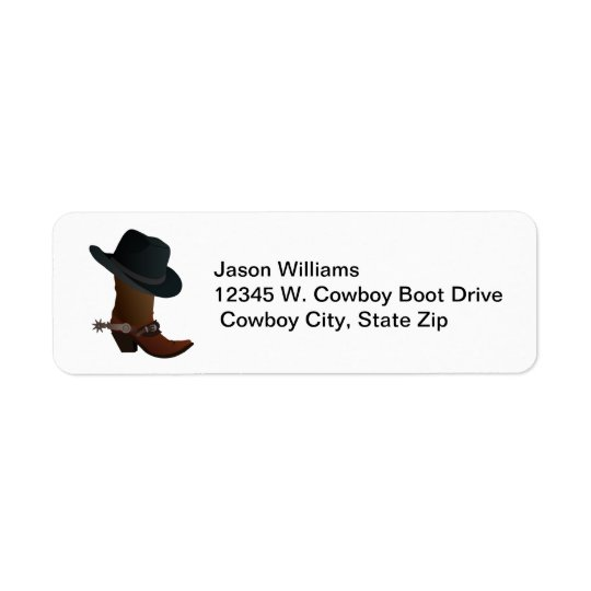 Country Western Cowboy Boot Hat Spurs Personalised