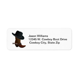 Country Western Cowboy Boot Hat Spurs Personalized