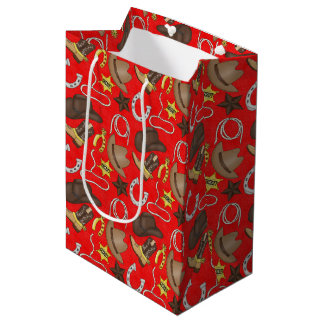 Country Western Cowboy small gift bag