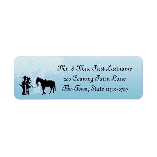 Country Western Fairy Tale Return Address Label