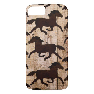 Country Western Horses Barn Wood iPhone 7 Case