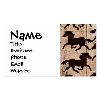 Country Western Horses on Barn Wood Cowboy Gifts Pack Of Standard Business Cards
