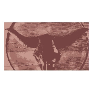 Country Western Longhorns Bull Skull Cowboy Gifts Pack Of Standard Business Cards