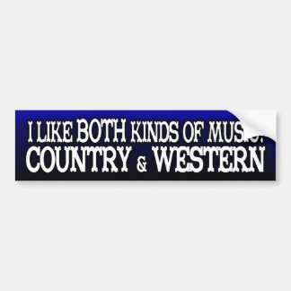 Country & Western Music Lover Bumper Sticker