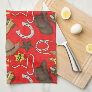 Country Western pattern Kitchen towel