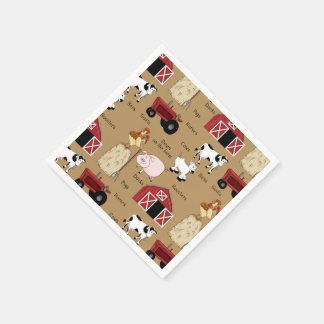 Country Western Pttern party paper napkins Disposable Napkin