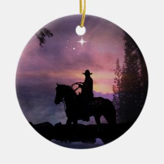 Country Western Rustic Cowboy Xmas Ornament