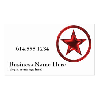 Country Western Star Badge Red 4 Business Card