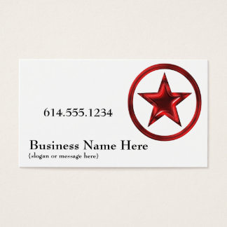 Country Western Star/Badge Red 4 Business Card