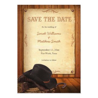 Country Western Wedding Save the Date Card