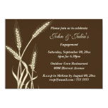 Country wheat engagement anniversary CUSTOM Personalised Invitations