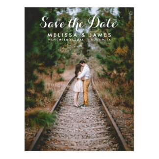 Country Whimsical Wedding Save The Date Postcard