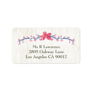 Country Wildflowers Address Labels