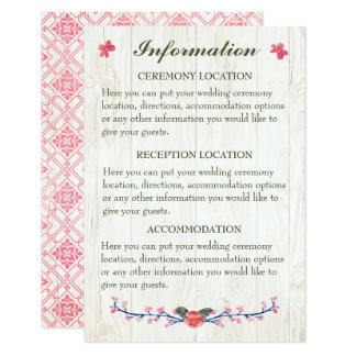 Country Wildflowers Heart Information Cards