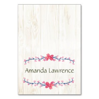 Country Wildflowers Place Cards Table Cards