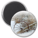 Country Winter 6 Cm Round Magnet