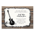 Country Wood Electric Guitar Music Wedding Invite