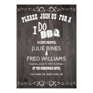 Country Wood Rehearsal Dinner Card