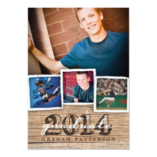 Country Wood Rustic Graduation 2014 Invitation
