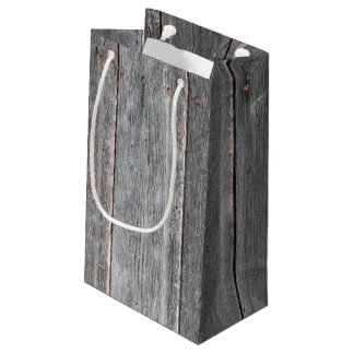 Country Wood Wall Small Gift Bag
