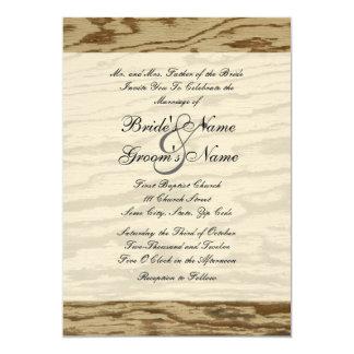 Country Wood Wedding Invitation