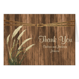 Country Wood with Wheat Card