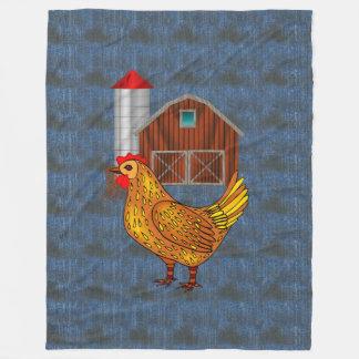 Country Yard Fleece Blanket