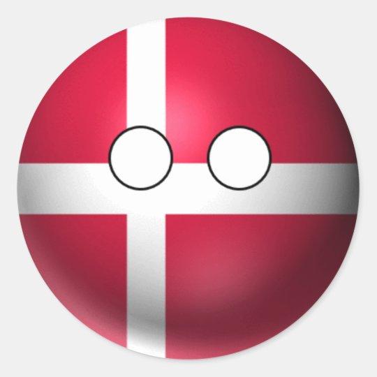 Countryball Denmark - Neutral Expression Classic Round Sticker