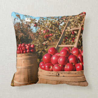 Countryside Apple Orchard Farm Photograph Cushion