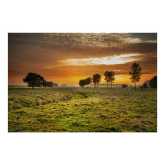 Countryside beautiful scenery poster
