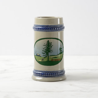 Countryside Ceramic Stein Beer Steins