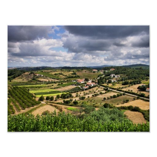Countryside landscape of Porto de Mos, Portugal Posters
