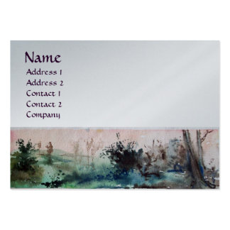 COUNTRYSIDE OF MAREMMA TUSCANY monogram platinum Business Cards