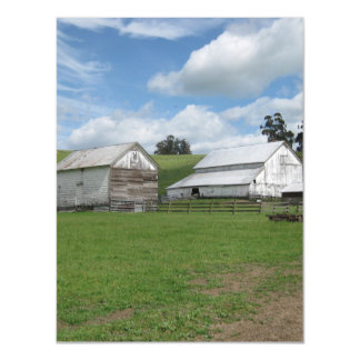 Countryside old barn Postcard Thin Magnetic Card Magnetic Invitations