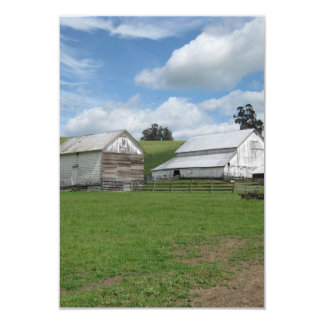 Countryside old white barn 3.5 x 5 invitation