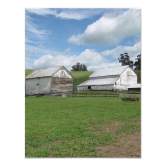 Countryside old white barn 4.25 x 5.5 Invitation