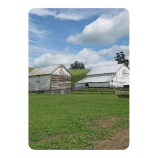Countryside old white barn 5 x 7 Invitation