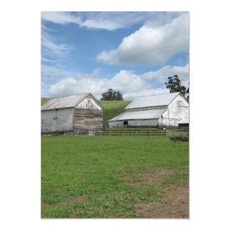 Countryside old white barn greeting card 13 cm x 18 cm invitation card