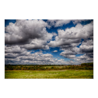 Countryside Skyscape Poster