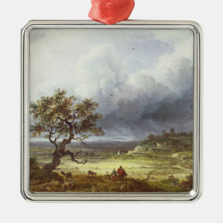 Countryside under a Stormy Sky Christmas Ornament