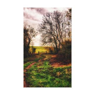 Countryside Walk Gallery Wrap Canvas